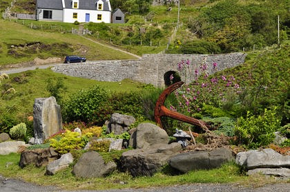 Pier House Self Catering Holiday Cottage Accomodation Elgol - view from garden of the bridge