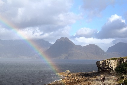 Rainbow over the Cuillins and Loch Scavaig