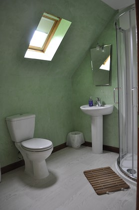 Pier House Self Catering Holiday Cottage Accomodation Elgol - shower room upstairs