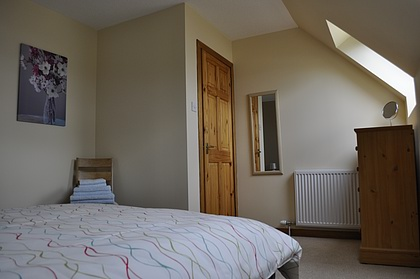 Pier House Self Catering Holiday Cottage Accomodation Elgol - the double bedroom upstairs