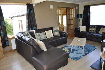 Pier House Self Catering Holiday Cottage Accomodation Elgol- the living room